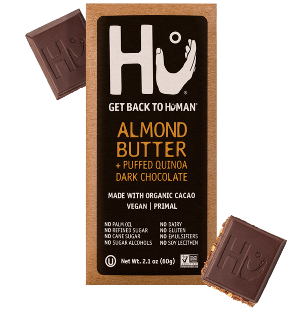Hu Kitchen Dark Chocolate Bar Almond Butter + Puffed Quinoa
