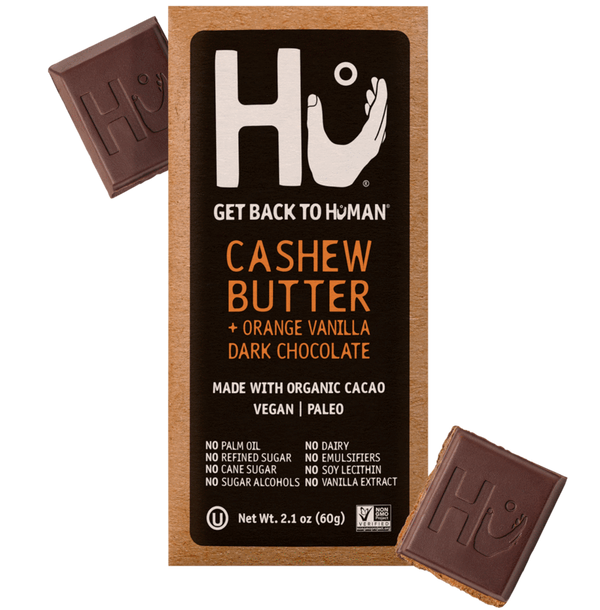 Hu Kitchen Dark Chocolate Bar Cashew Butter + Pure Vanilla Bean
