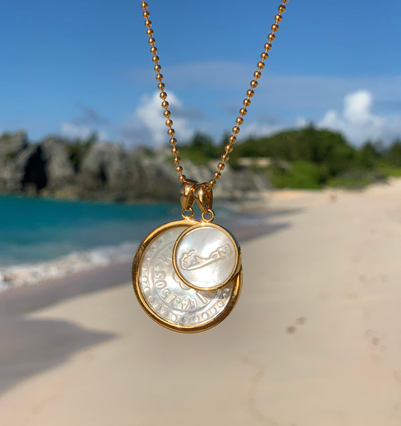 Bermuda Island Mother of Pearl Charm