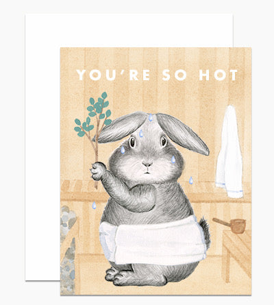 Dear Hancock Your're So Hot Sauna Bunny