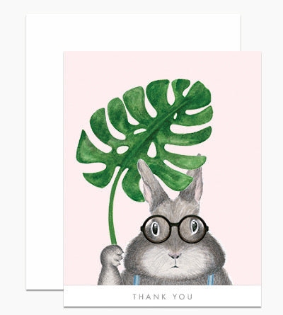 Dear Hancock Bunny with Monstera