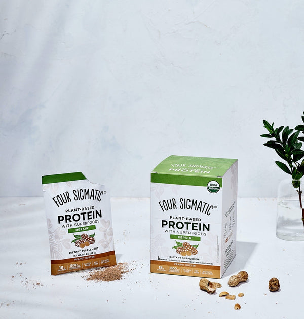 Four Sigmatic Plant Based Protein Peanut Butter Packets