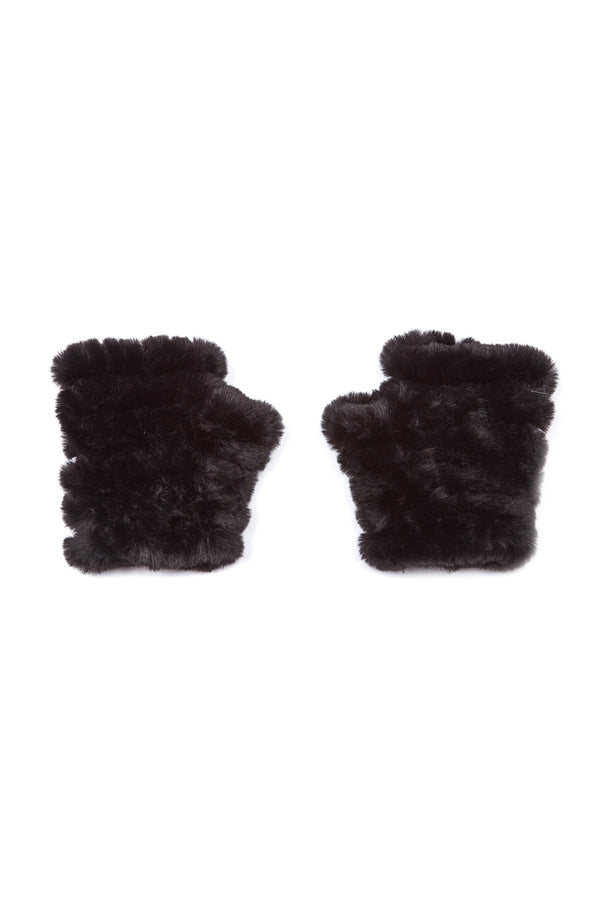Jocelyn Kids Faux Fur Knitted Mandy Mittens