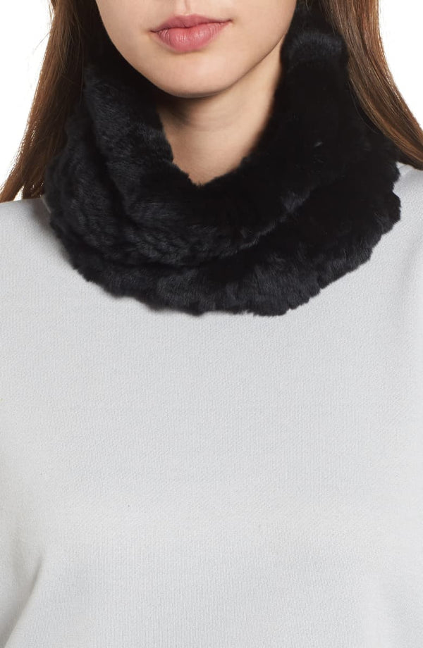 Jocelyn Knitted Faux Fur Stretch Cowl