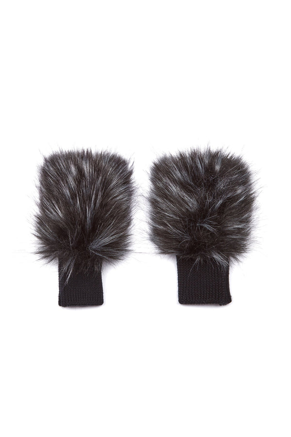 Jocelyn Long Hair Faux Fur Texty Time Mittens