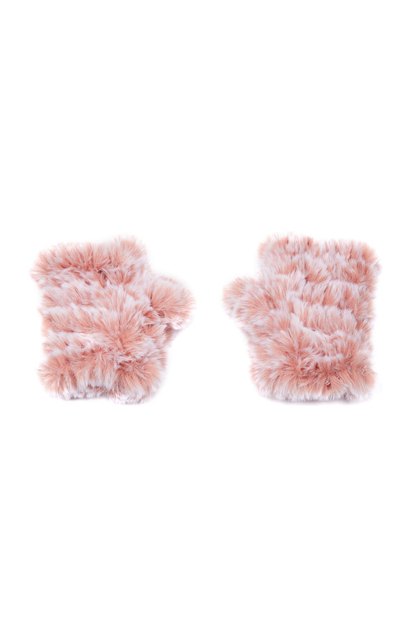 Jocelyn Snowtop Faux Fur Knitted Mandy Mittens