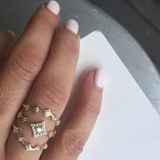Katie Diamond Leila Ring w/ Diamond