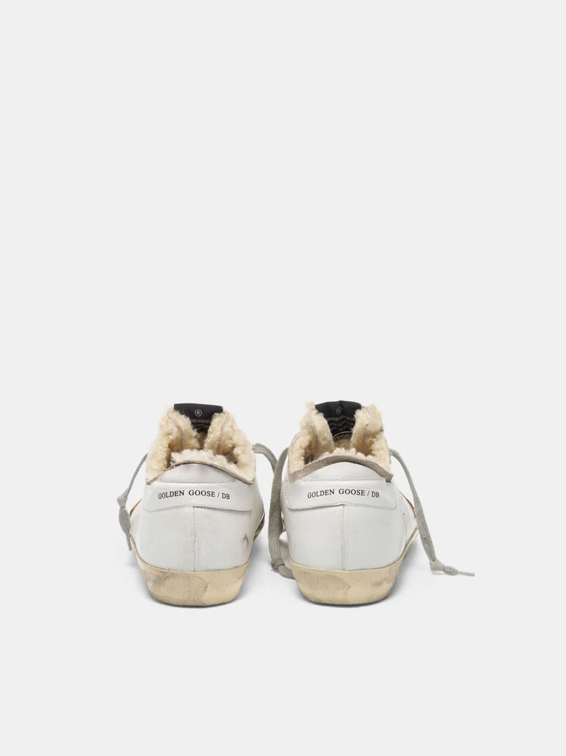 Golden Goose Superstar Leather Upper Leopard Horsy Star Shearling Lining White/Beige/Beige Brown Leo