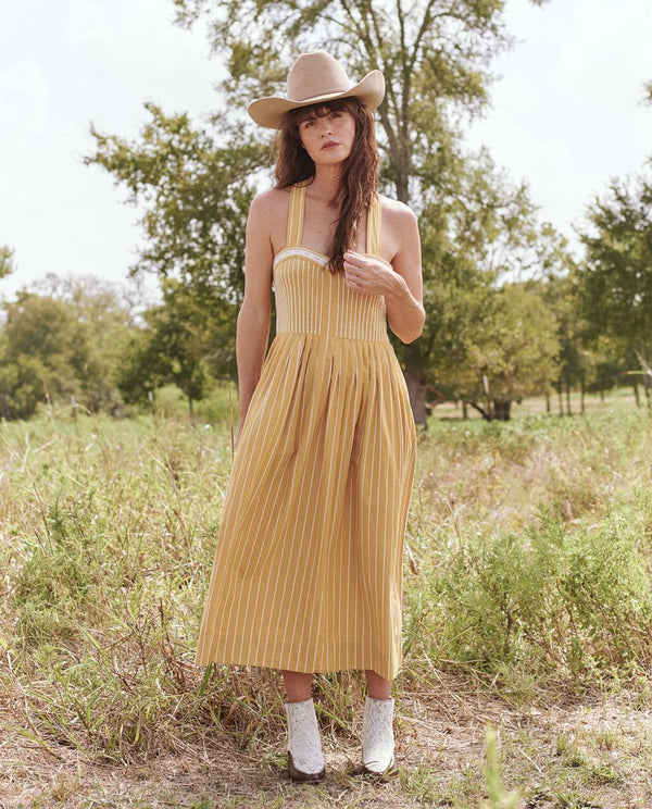 The Great The Laurel Dress Sunburst Stripe