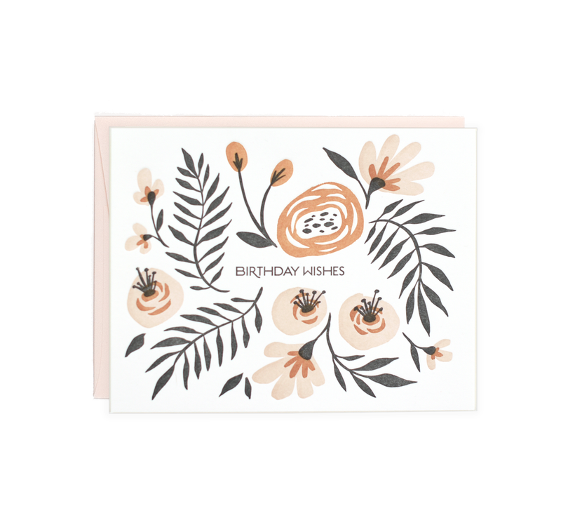 Lake Erie Design Co Birthday Wishes - Folk Floral