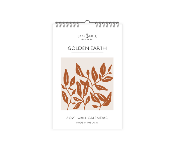 Lake Erie Design Co Golden Earth Wall Calendar