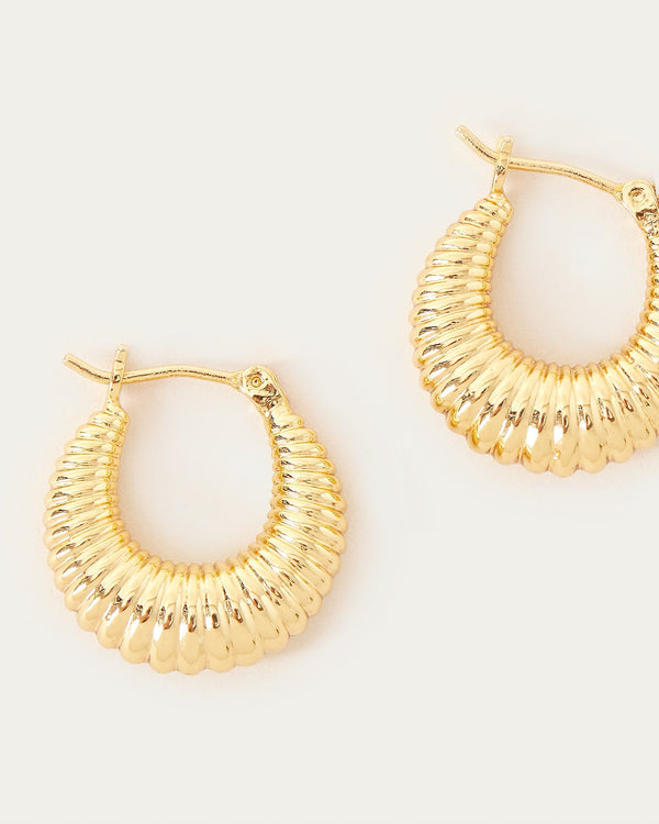 Loeffler Randall Monica Pleated Hoop Earring