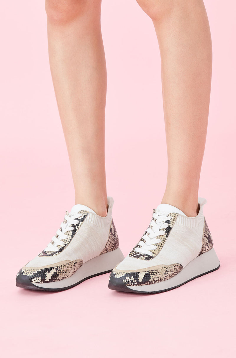 Loeffler Randall Remi Lace Up Sneaker Natural/Sand