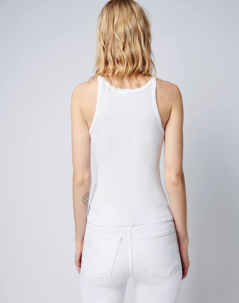 Re/done Ribbed Tank Optic White