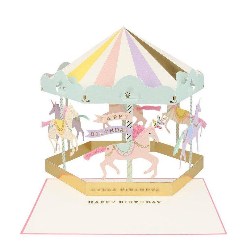 Meri Meri Carousel Stand-up Card