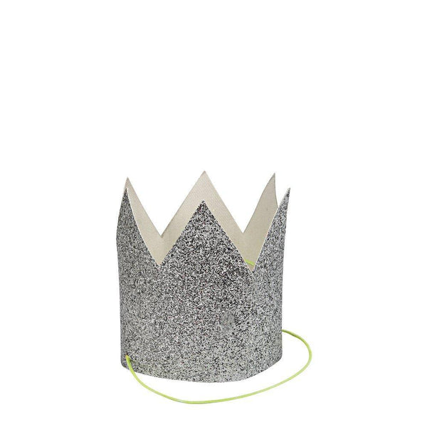 Meri Meri Mini Silver Glittered Crowns