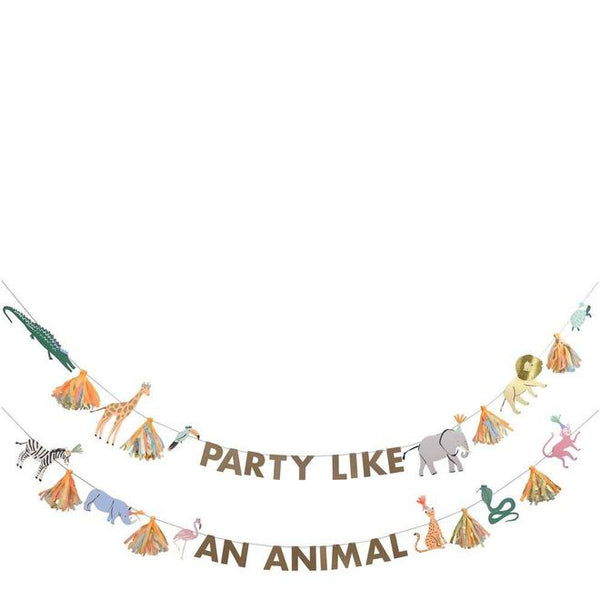 Meri Meri Safari Animals Large Garland