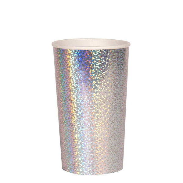 Meri Meri Silver Sparkle Highball Cups