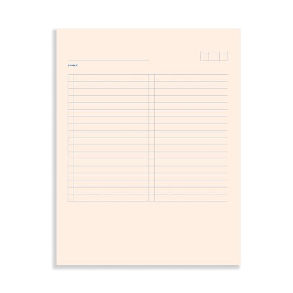 Moglea Notepads - Project Pad 01