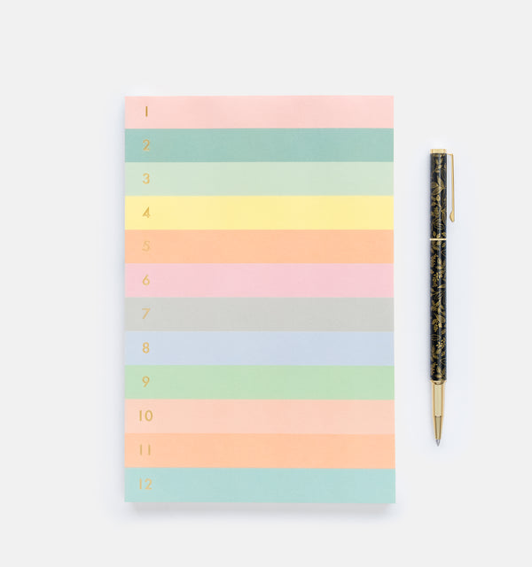 Rifle Paper Co. Numbered Color Block Memo Notepad