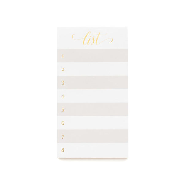 Sugar Paper List, Grey