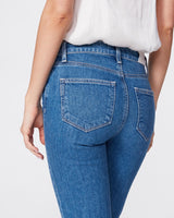Paige Vintage Colette Crop Flare Raw Sonic Distressed