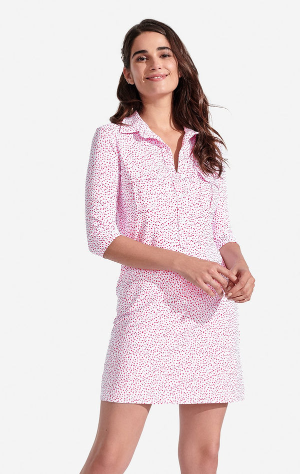 Persifor Winpenny Dress Speckled in Pale Pink