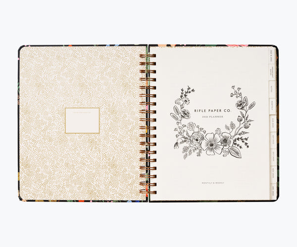 Rifle Paper Co. 2021 Strawberry Fields Hardcover Spiral Planner
