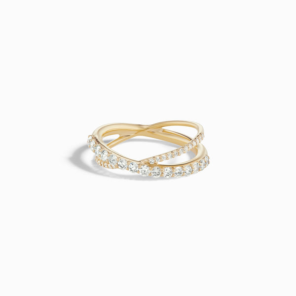 Sophie Ratner Full Pave Crossover Ring