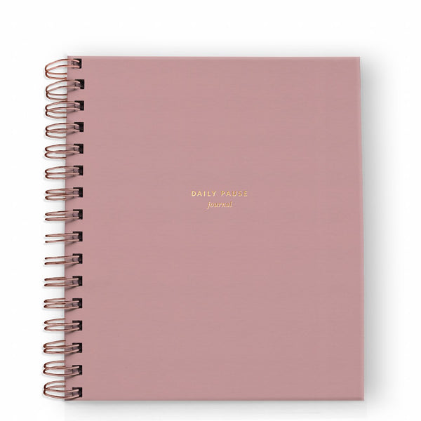 Ramona & Ruth Daily Pause Journal in Dusty Rose
