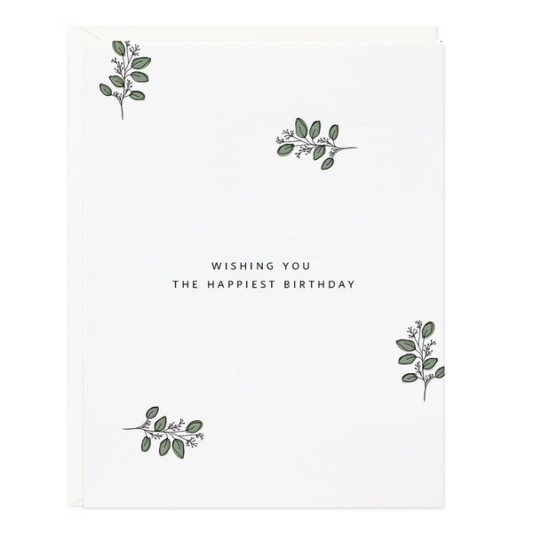 Ramona & Ruth Happy Birthday Eucalyptus Card