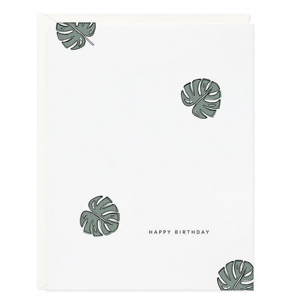 Ramona & Ruth Philodendron Birthday Card