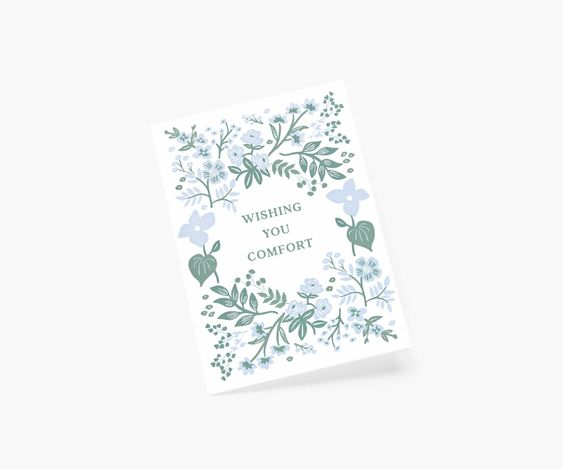 Rifle Paper Co. Indigo Sympathy 4Bar Card