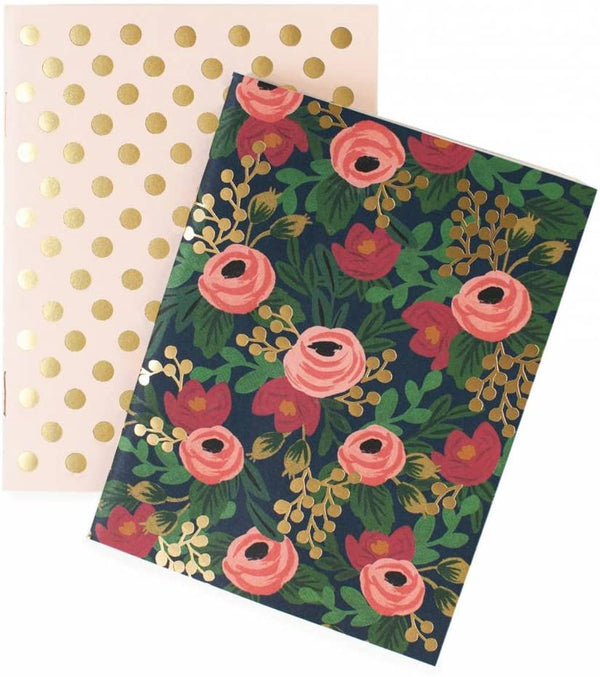 Rifle Paper Co. Pair of 2 Rosa Pocket Notebooks