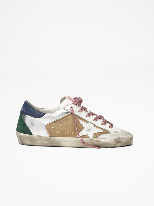 Golden Goose Superstar Col T30 Silver Desert Leather White Star Penstar
