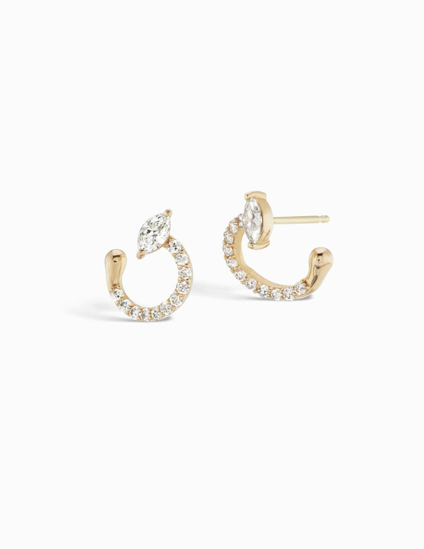 Sophie Ratner Pave Helical Hoops
