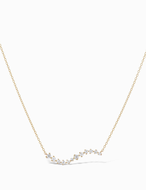 Sophie Ratner Diamond Swell Necklace