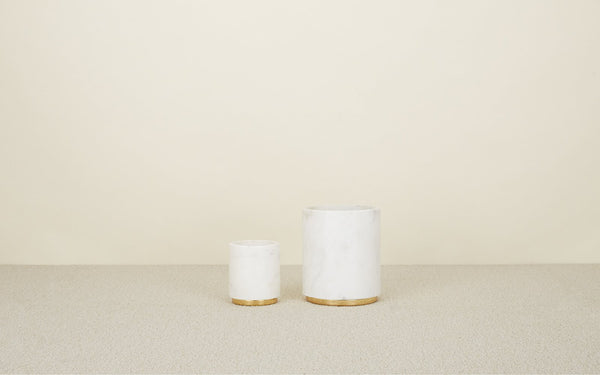 Hawkins New York Mara Marble + Brass Utility Canister