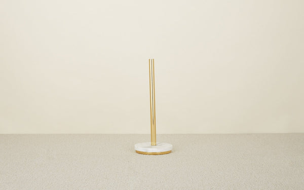 Hawkins New York Mara Marble + Brass Paper Towel Holder