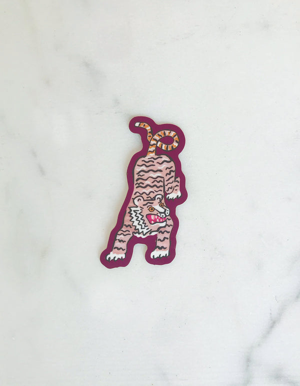 Idlewild Pink Tiger Die Cut Sticker