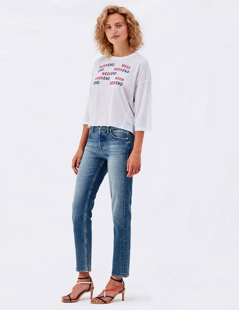 Sundry Weekend Athletic Tee White