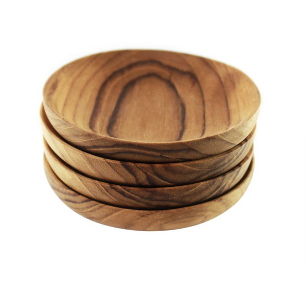 Be Home Teak Pinch Bowls set of 4