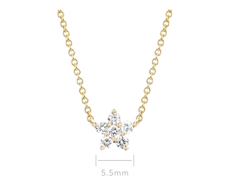 EF Collection Diamond Flower Choker Necklace