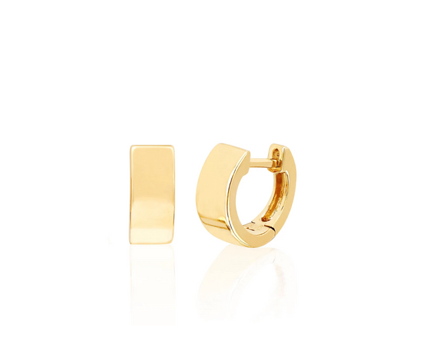 EF Collection Gold Jumbo Huggie Earring (PAIR)