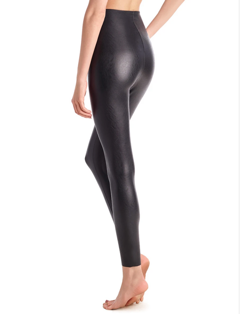Commando Faux Leather Legging with Perfect Control Black