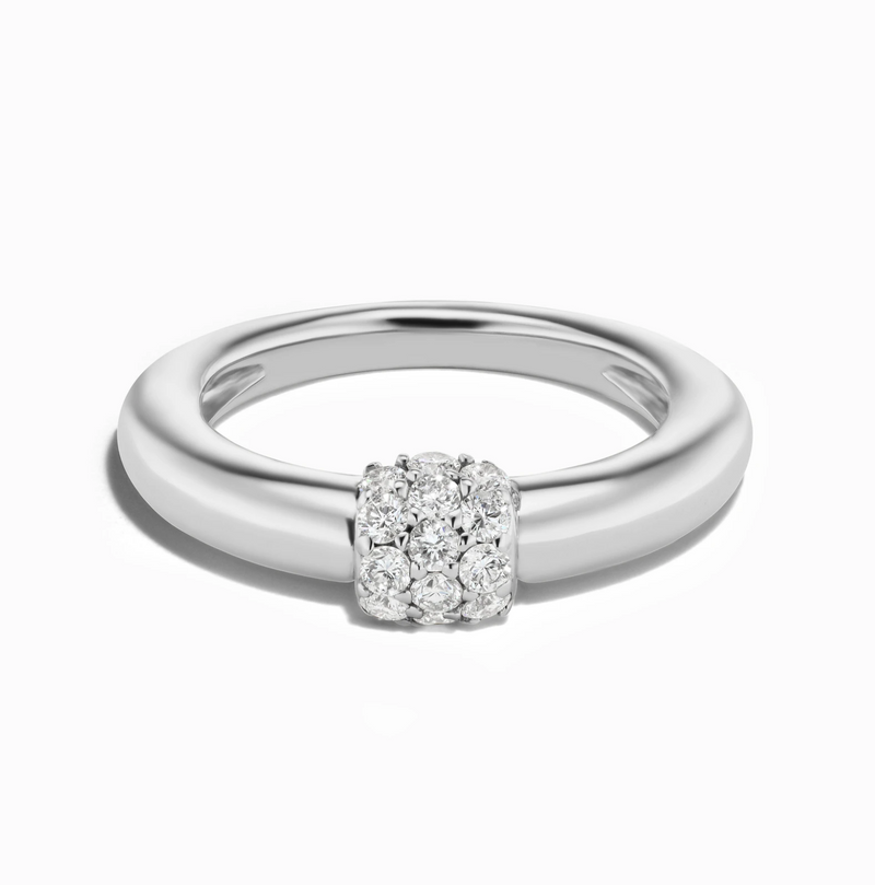 Sophie Ratner Triple Diamond Domed Ring
