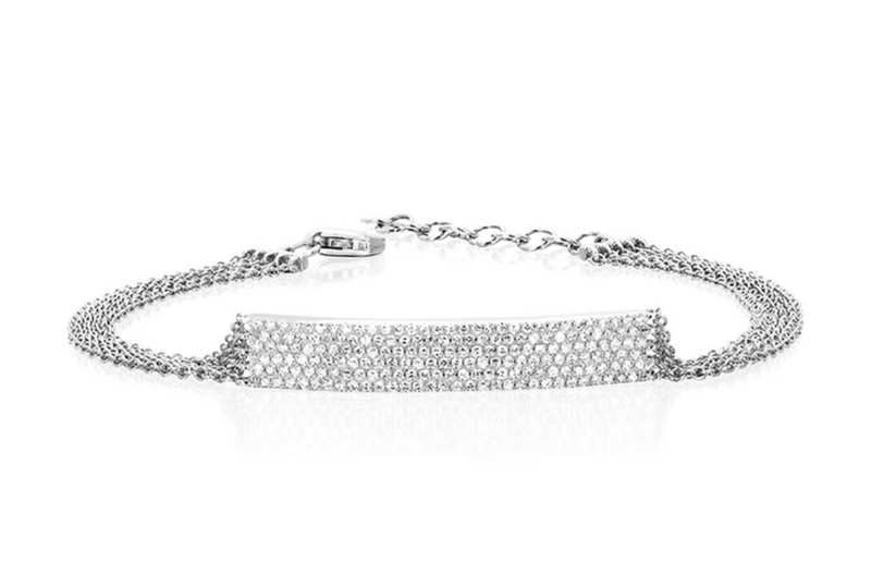 EF Collection Diamond Jumbo Bar Multi Chain Bracelet