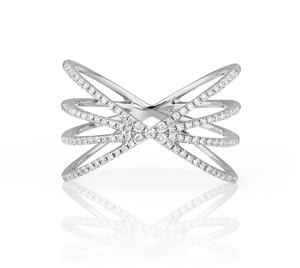 EF Collection Diamond Sunburst Ring 031cts