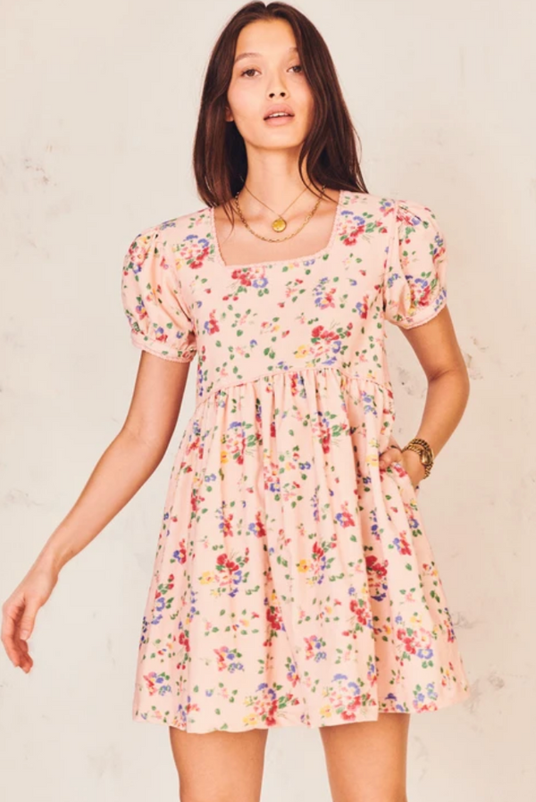 LoveShackFancy Raleigh Dress Sunset Pink