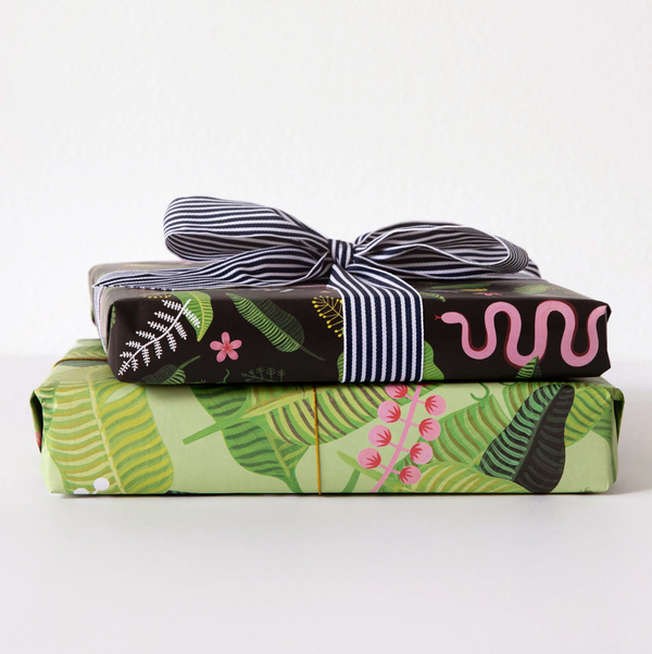 Girl with Knife Tropical Swoon Gift Wrap